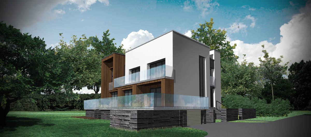 Dom kostka - wizualizacja 5