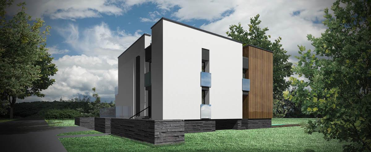 Dom kostka - wizualizacja 2