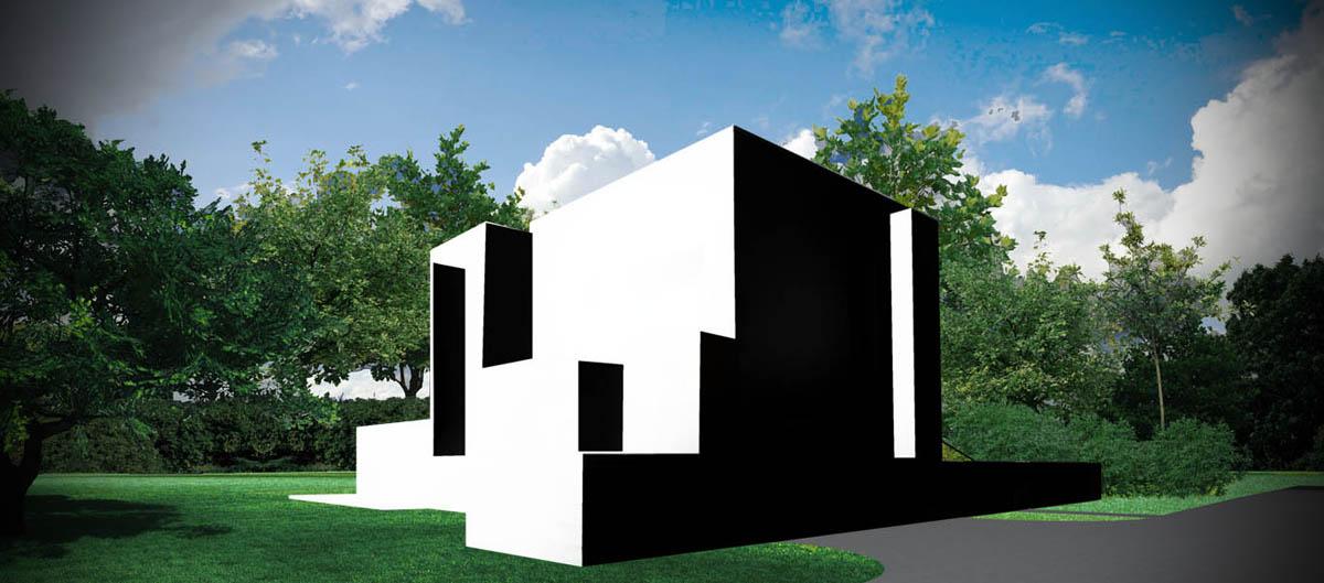 Dom kostka - wizualizacja 1