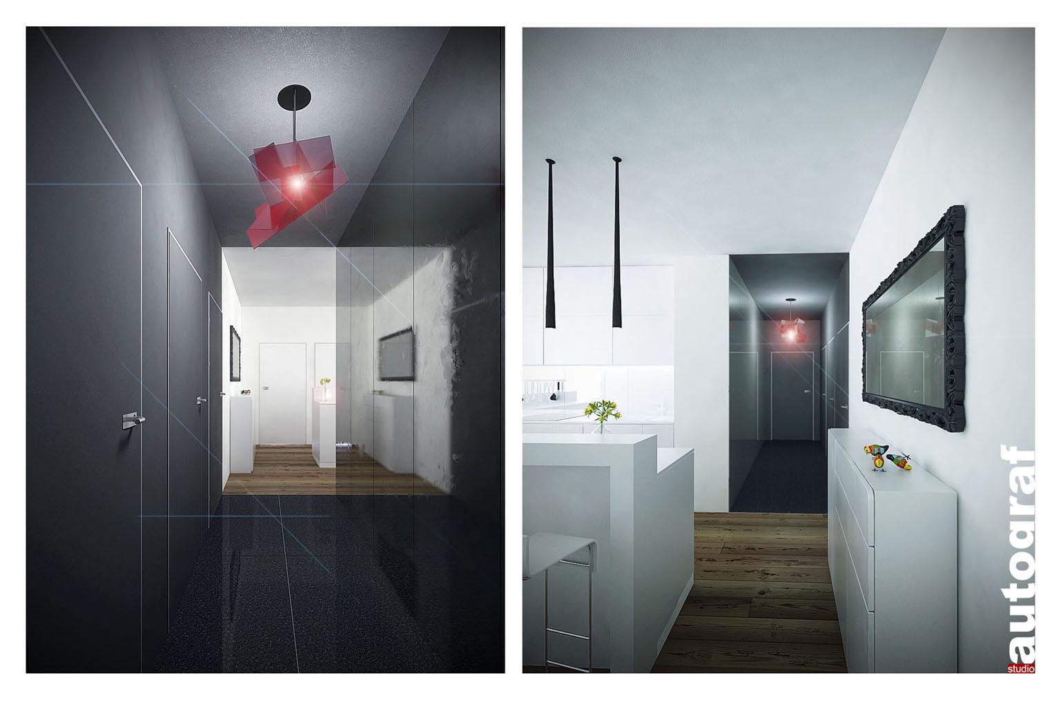 Apartament z widokiem na Wisłę - wizualizacja 1
