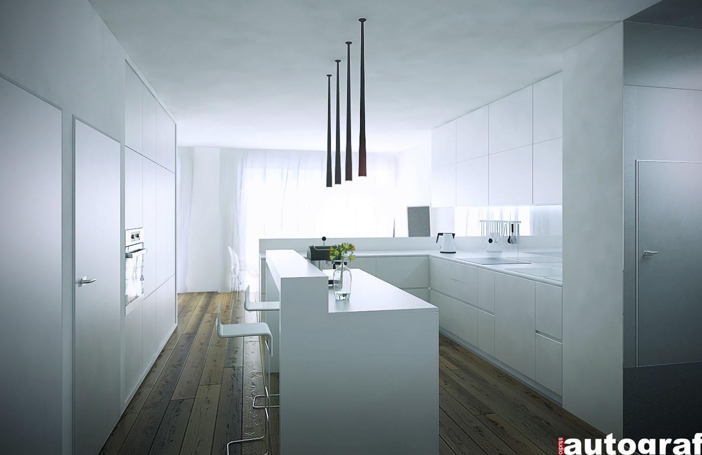 Apartament z widokiem na Wisłę - wizualizacja 2