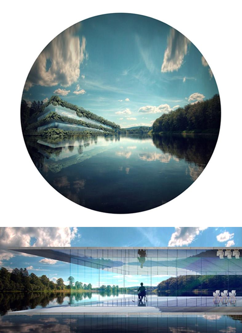 Biuro na wodzie - wizualizacja 3