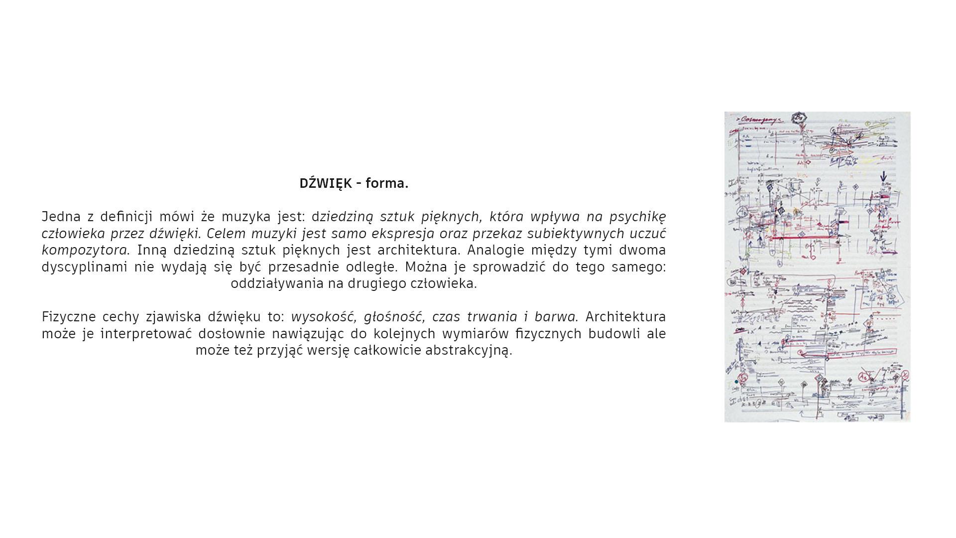 Dom Fortepian - dźwięk - forma