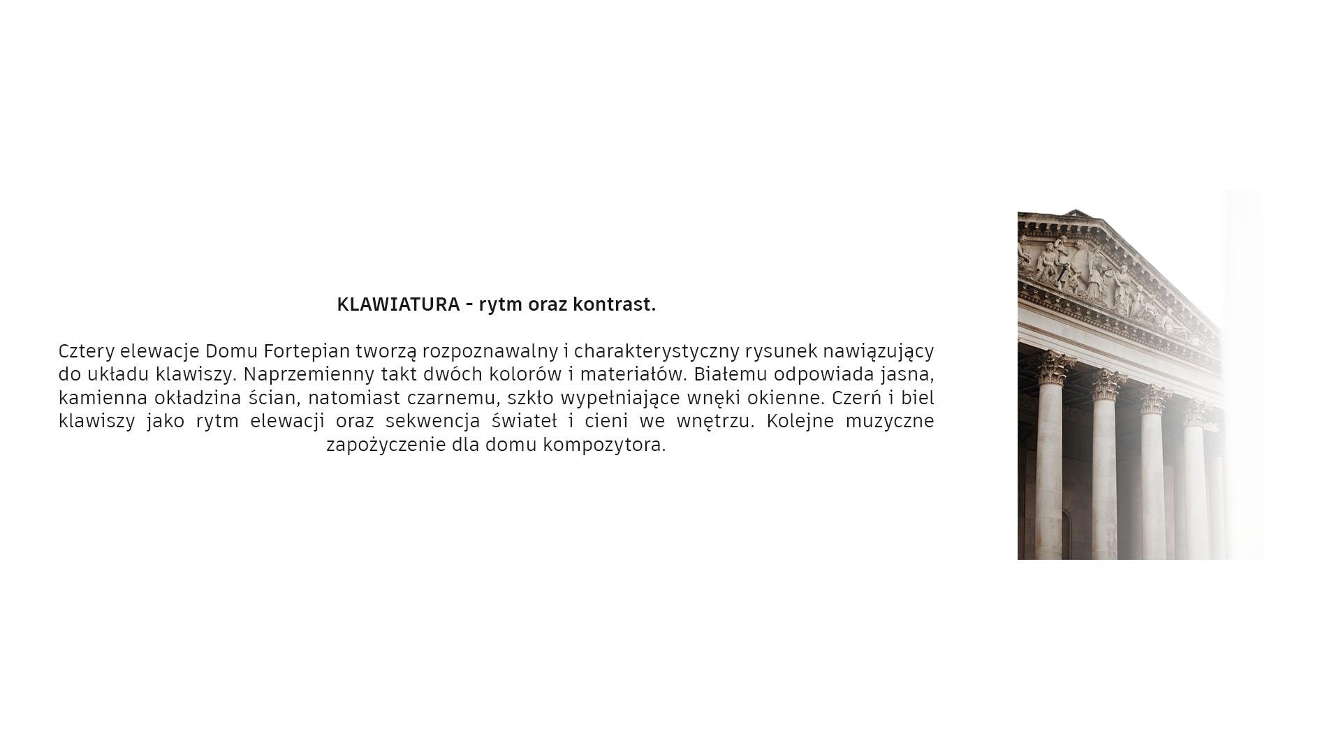 Dom Fortepian - Klawiatura - rytm oraz kontrast