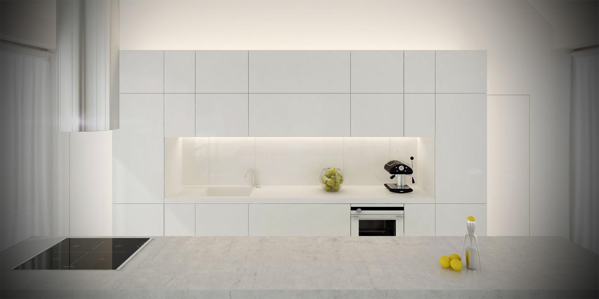 White & Brutal - wizualizacja wnętrza 4