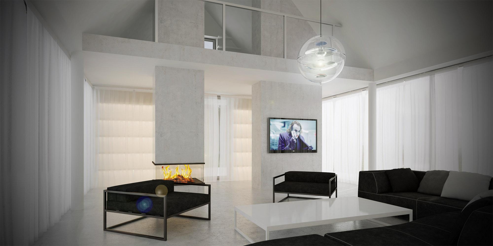 White & Brutal - wizualizacja wnętrza 5