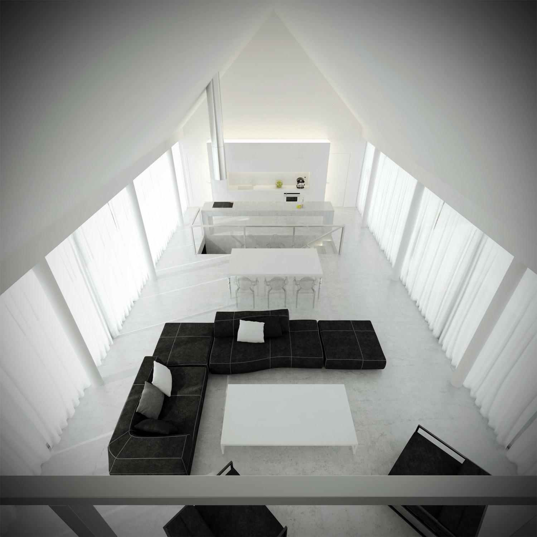 White & Brutal - wizualizacja wnętrza 6