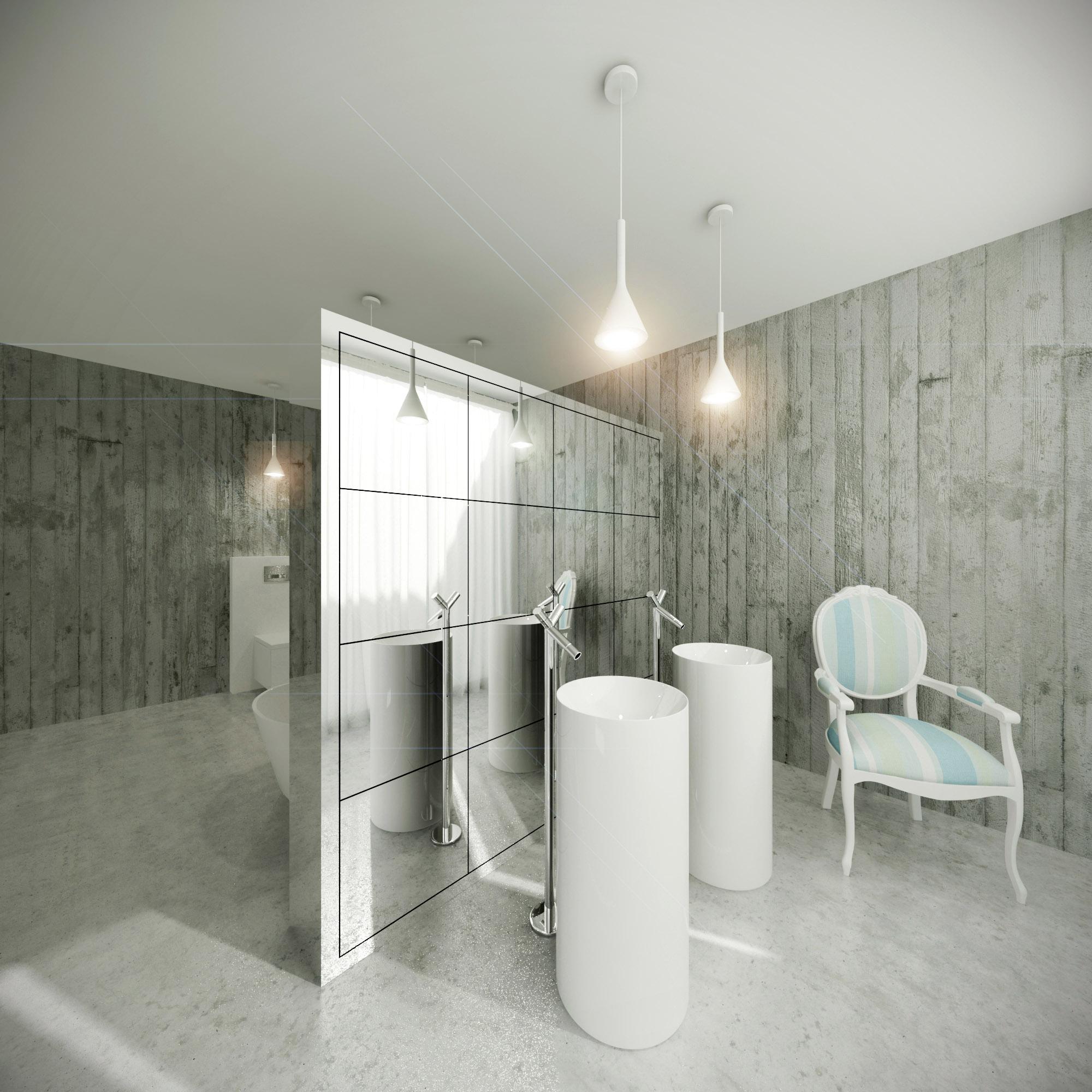 White & Brutal - wizualizacja wnętrza 8