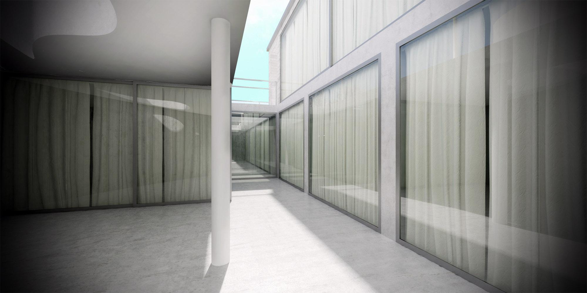 White & Brutal - wizualizacja wnętrza 11
