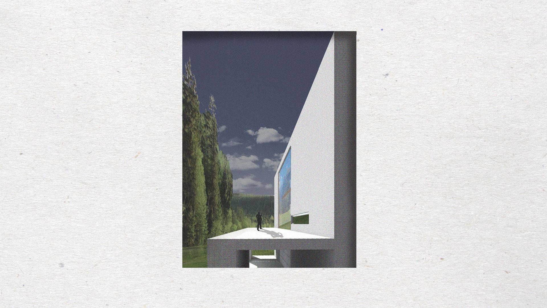 Dom pisarza - wizualizacja 3