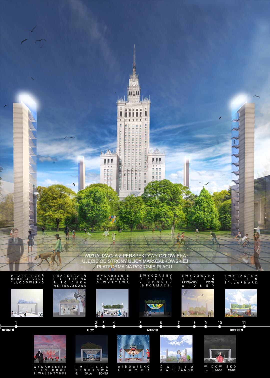 Plac Centralny - wizualizacja 1