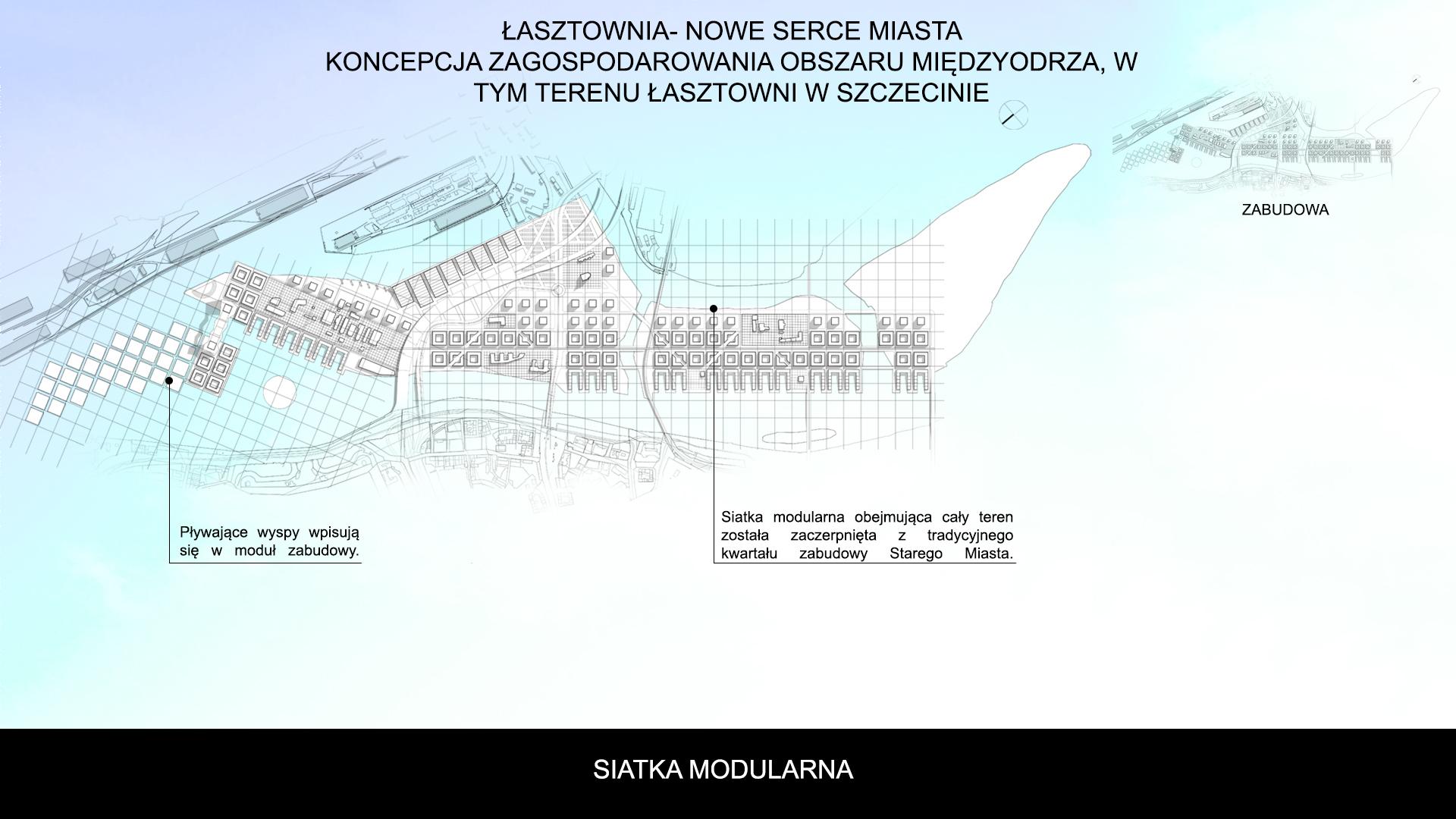 Nowe Serce Miasta - rzut - siatka modułowa