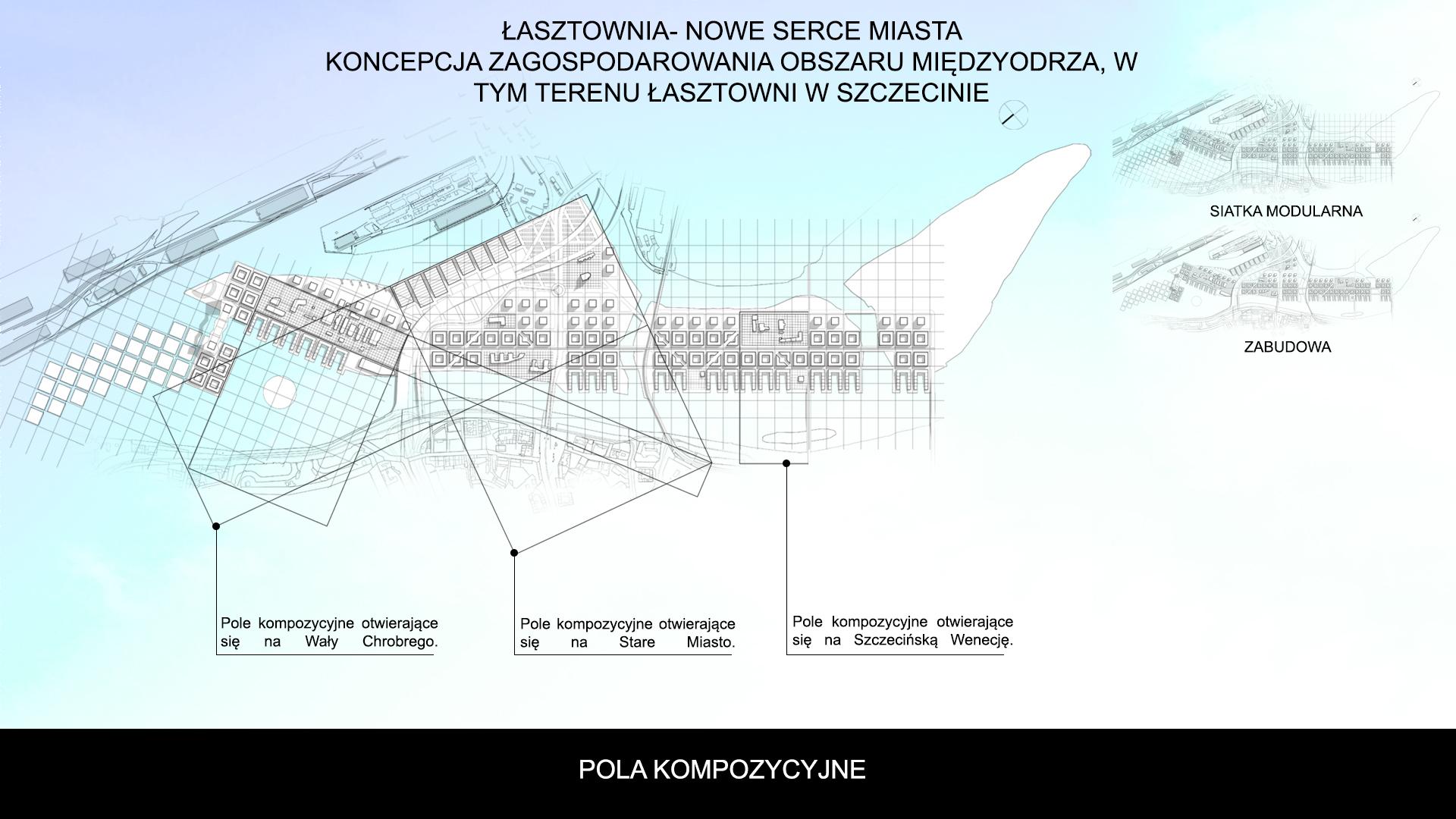 Nowe Serce Miasta - rzut - pola kompozycyjne