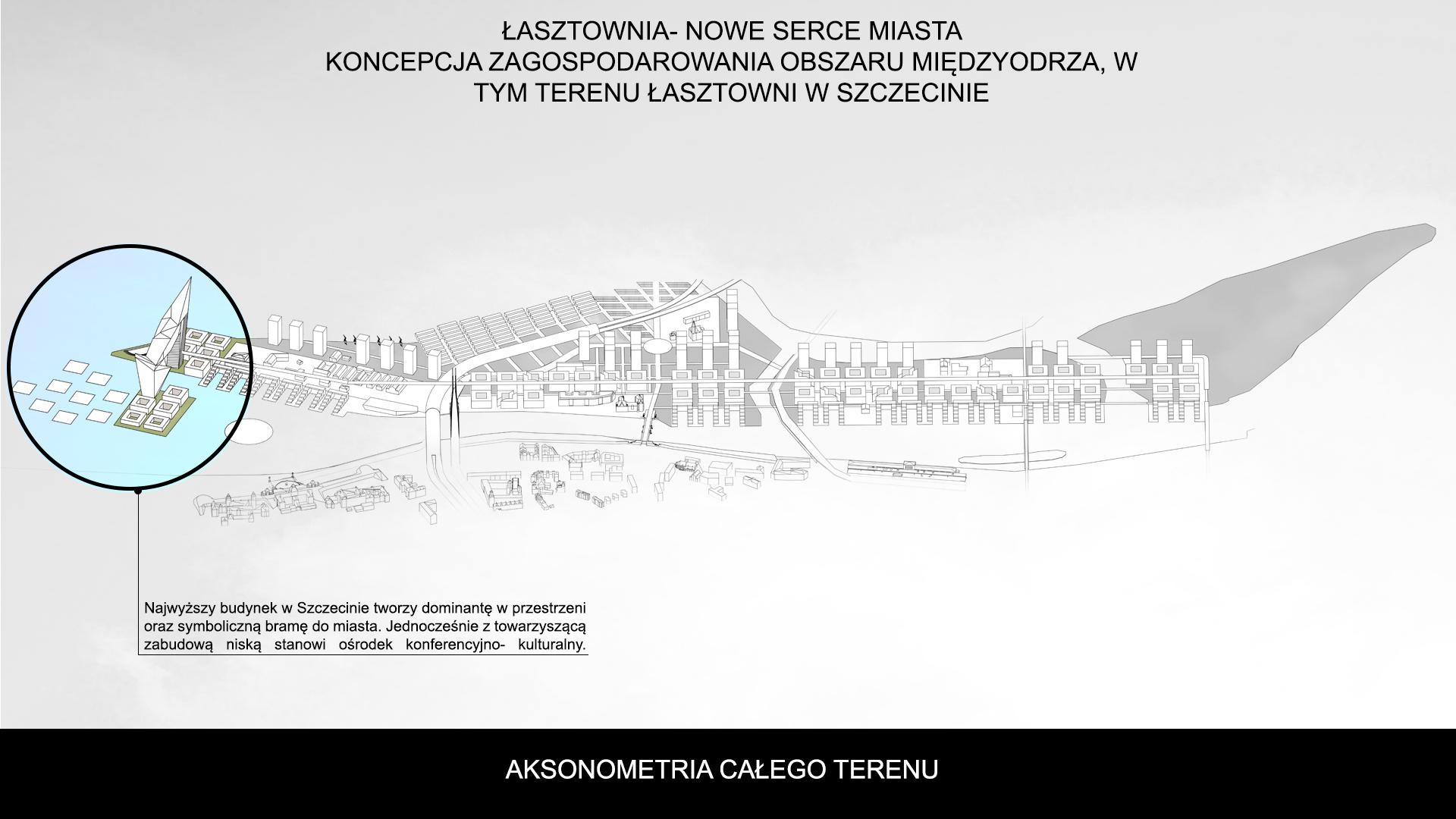Nowe Serce Miasta - aksonometria 2