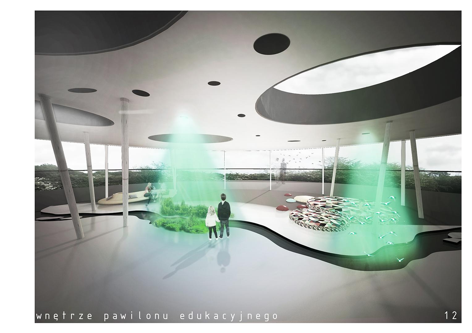 Pawilon edukacyjny - wnętrze
