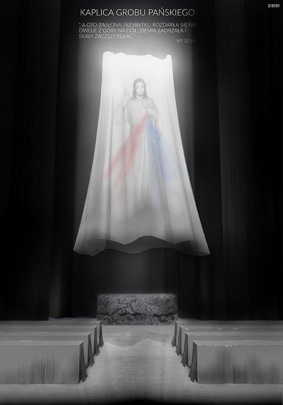 Świątynia Opatrzności Bożej - kaplica grobu Pańskiego - wizualizacja