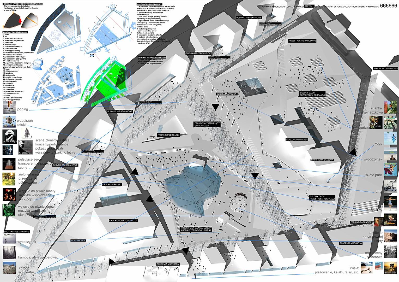 Centrum Muzyki w Krakowie - model 1