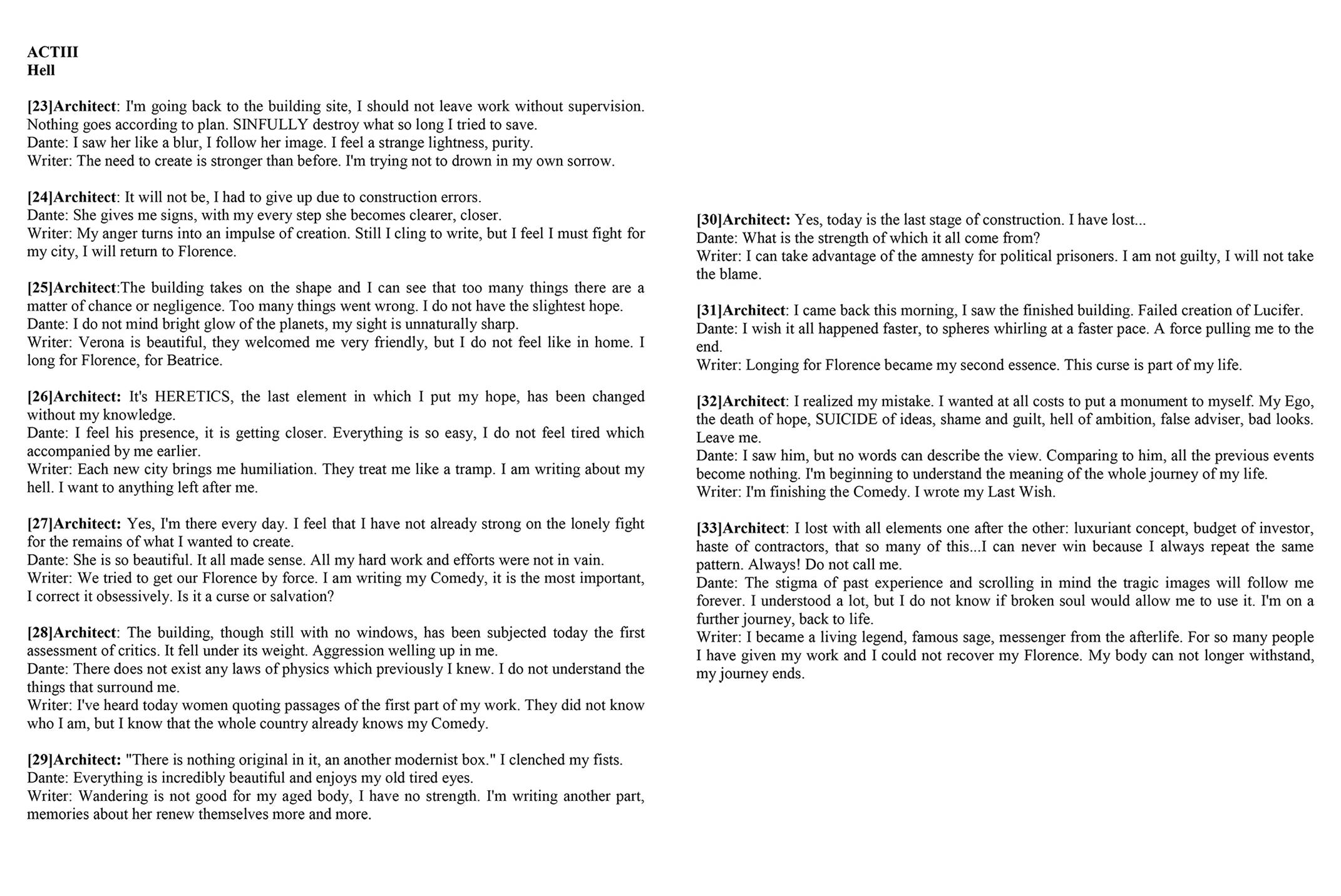 Dekonstrukcja Dantego - akt 3