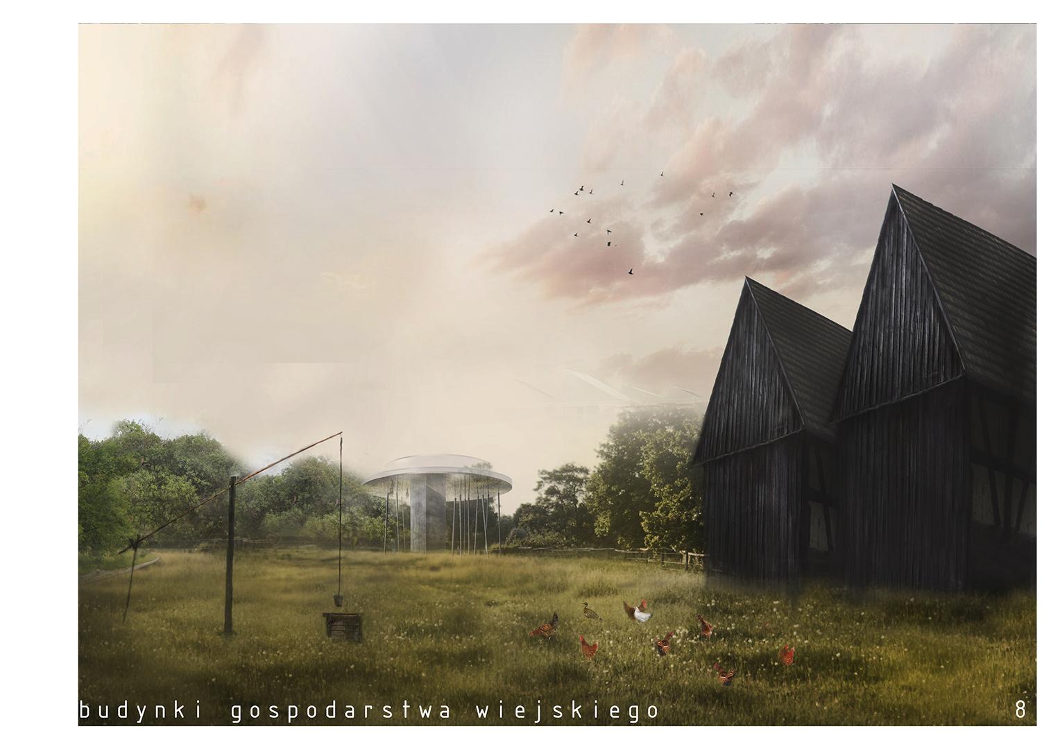 Pawilon edukacyjny - budynki gospodarstwa wiejskiego