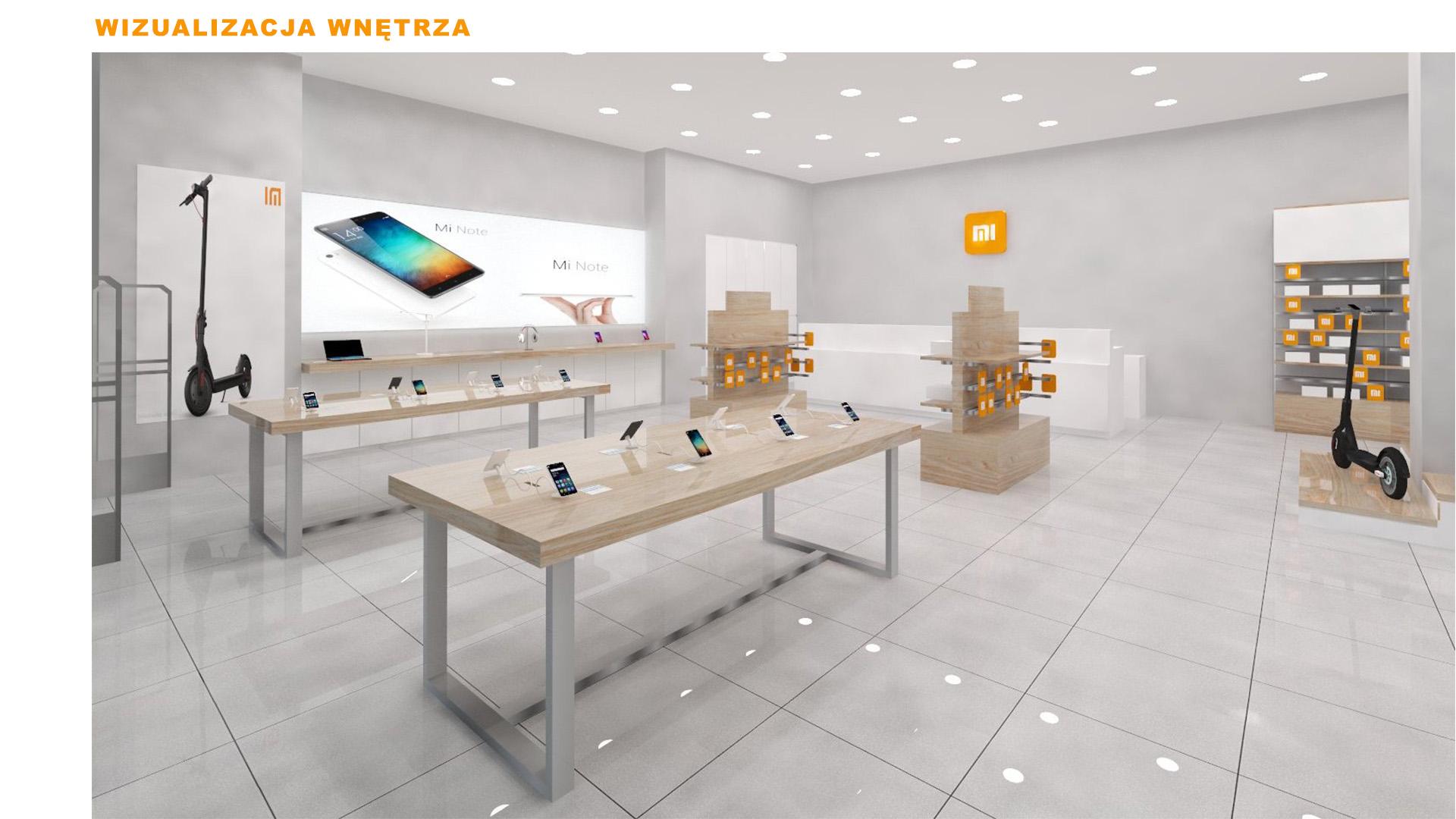 Mi-Store - Poznań - Centrum Posnania - wizualizacja wnętrza