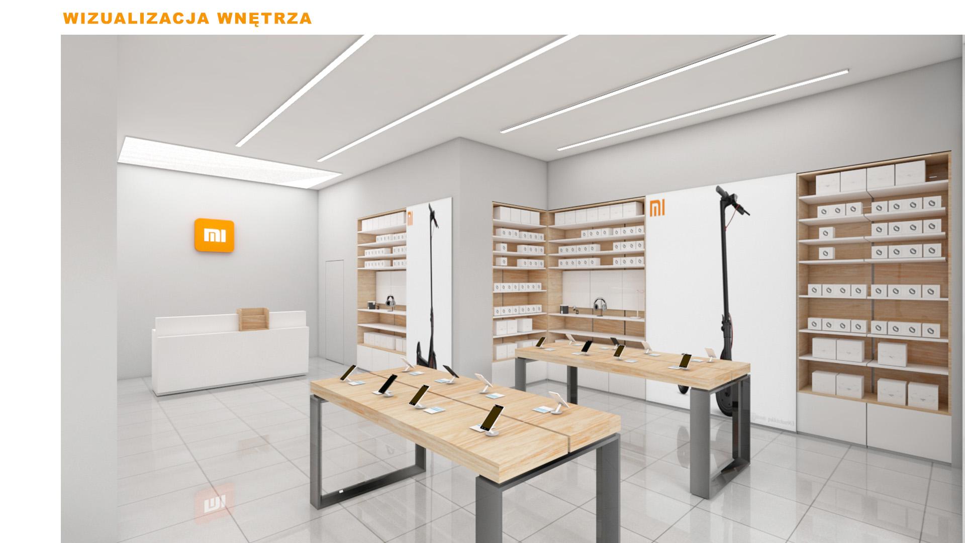 Mi-Store - Poznań - Centrum Avenida - wizualizacja wnętrza