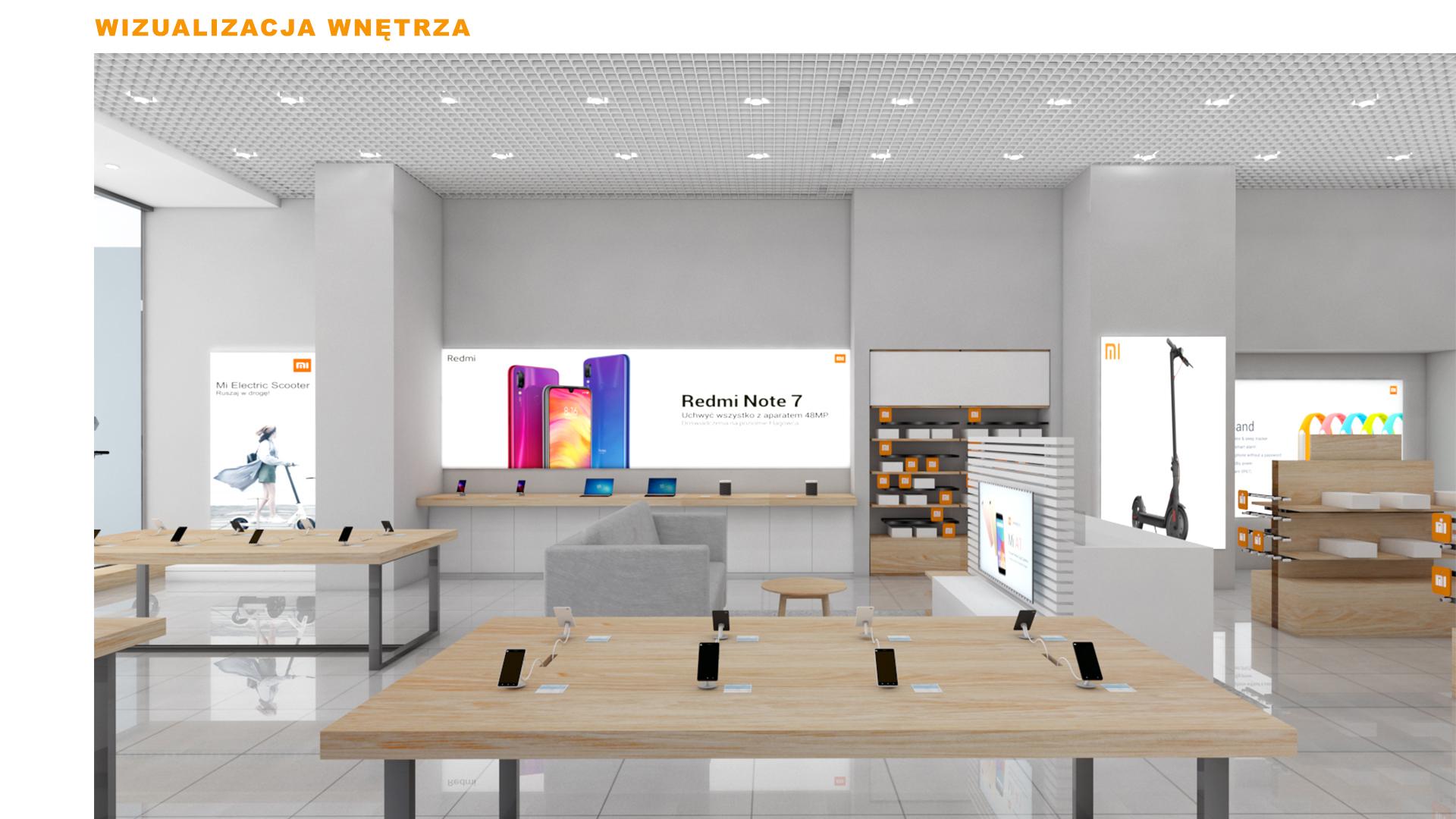 Mi-Store - Warszawa - Galeria Młociny - wizualizacja wnętrza