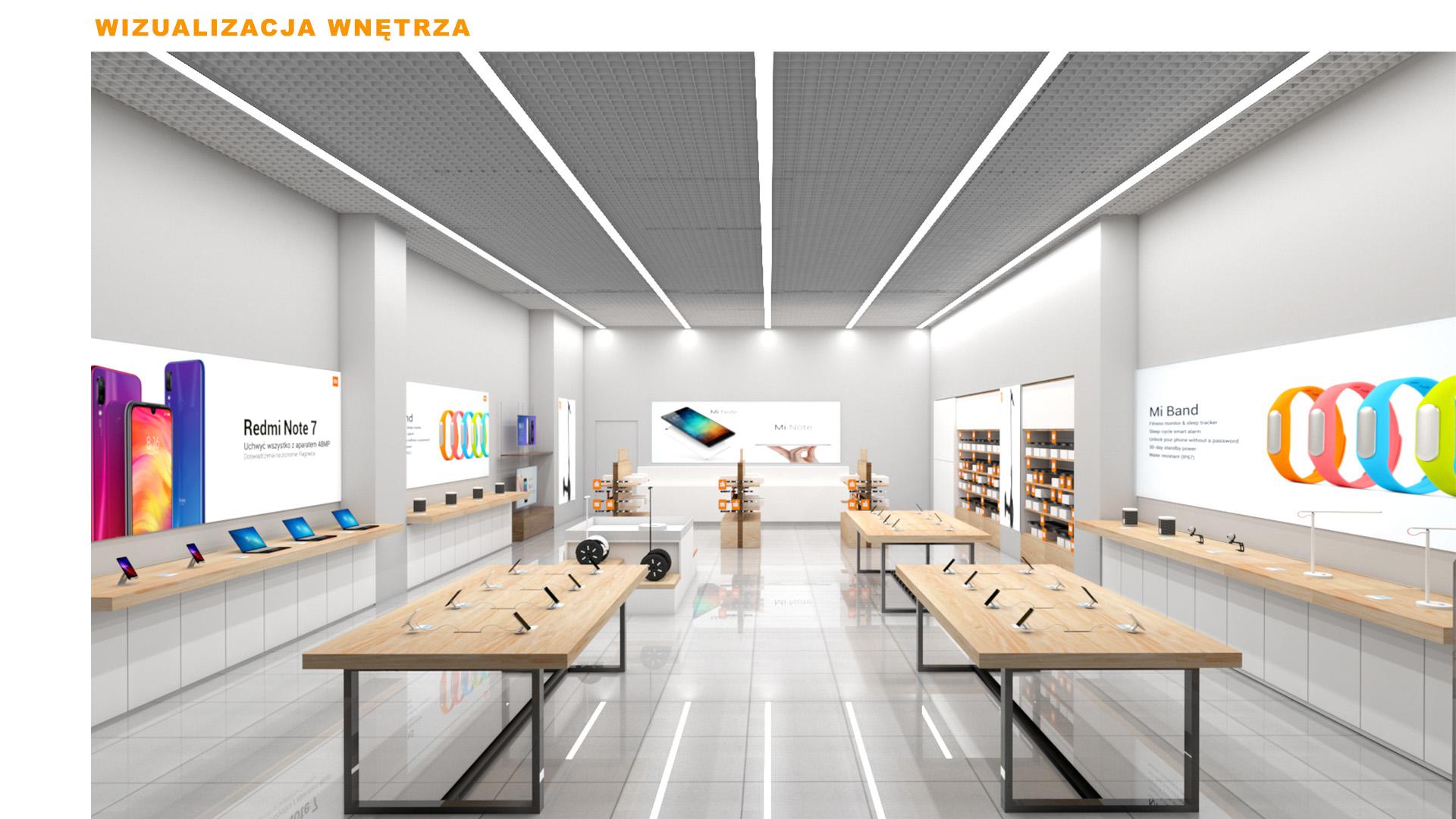 Mi-Store - Rzeszów - Galeria Rzeszów - wizualizacja wnętrza
