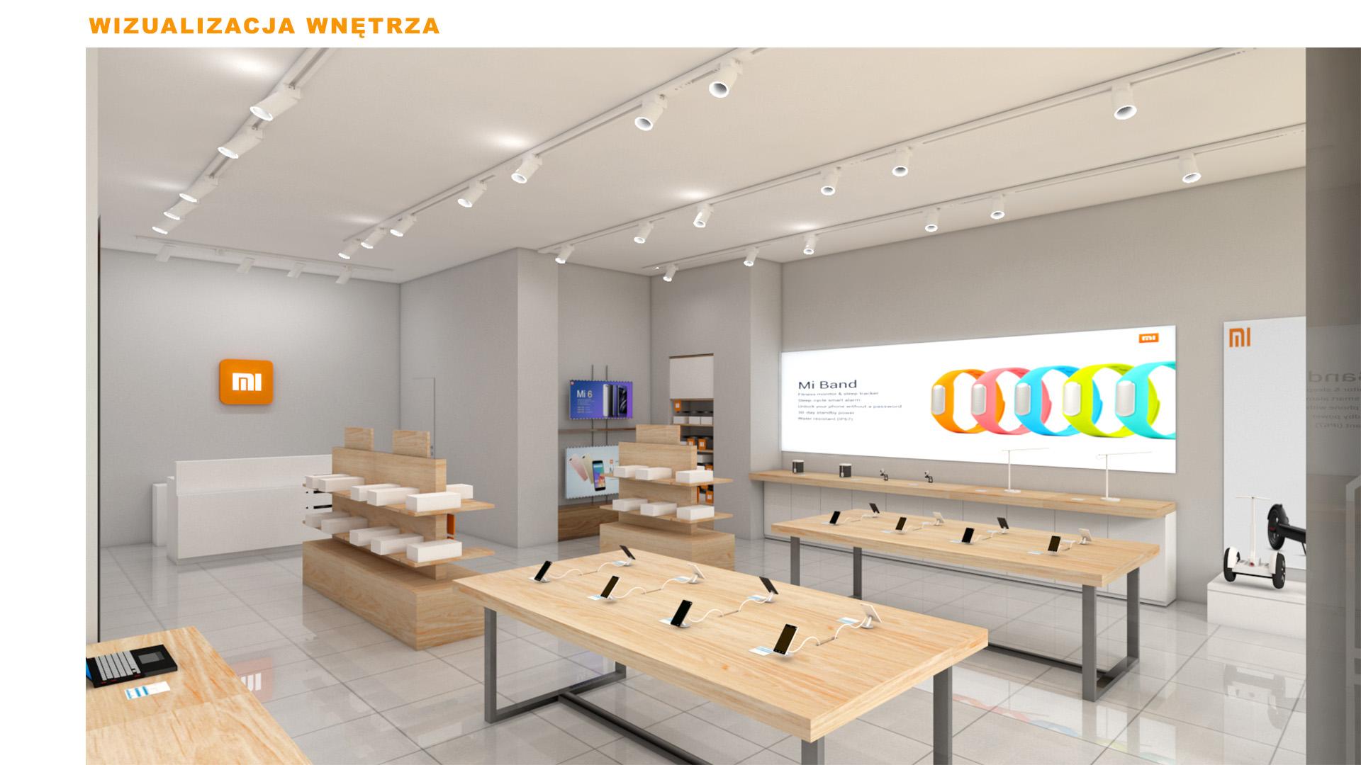 Mi-Store - Lublin - Centrum Plaza - wizualizacja wnętrza