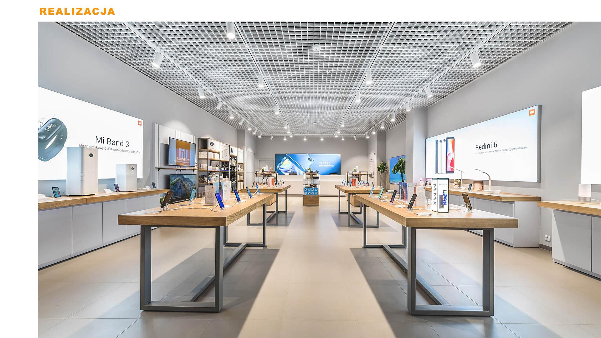 Mi-Store - Gdynia - Centrum Riviera - wizualizacja wnętrza
