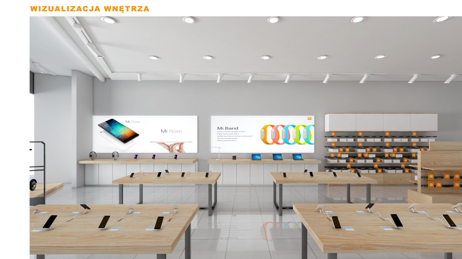 Mi-Store - Katowice - Galeria Katowicka - wizualizacja wnętrza