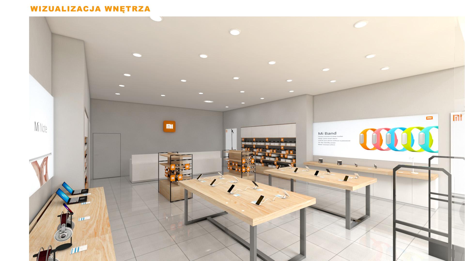 Mi-Store - Częstochowa - Galeria Jurajska - wizualizacja wnętrza