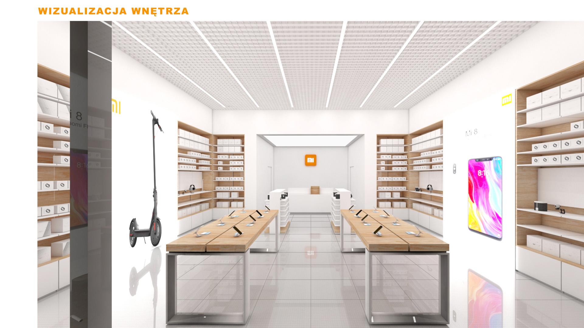 Mi-Store - Czeladź - Centrum Handlowe m1 - wizualizacja wnętrza