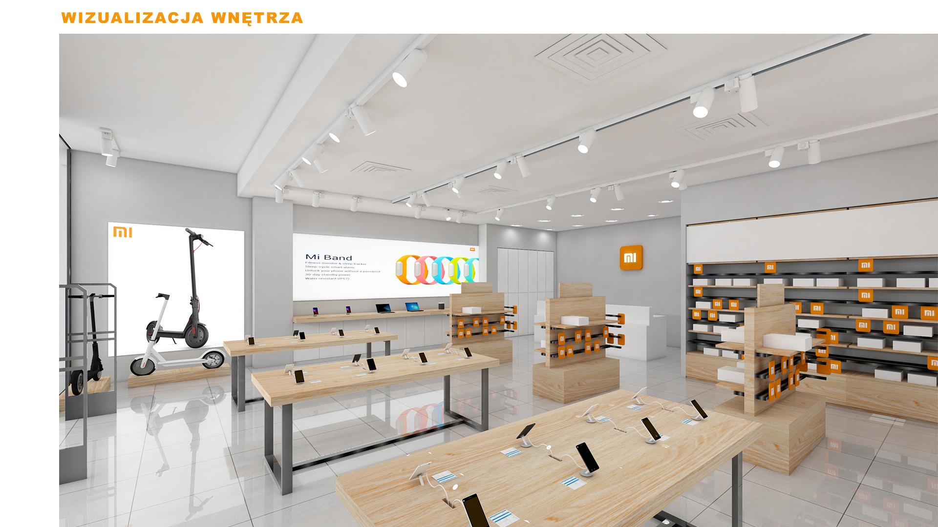 Mi-Store - Kraków - Galeria Krakowska - wizualizacja wnętrza