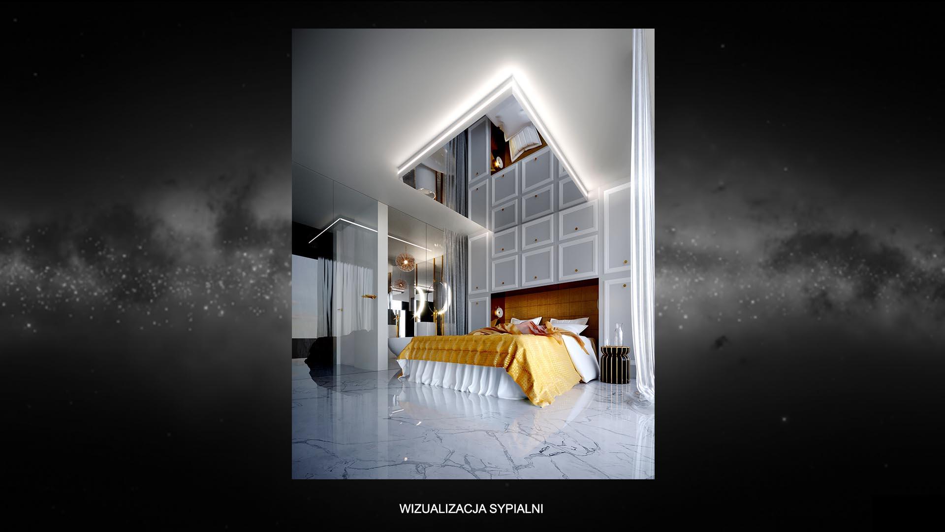 Apartament kometa - wizualizacja sypialni 1