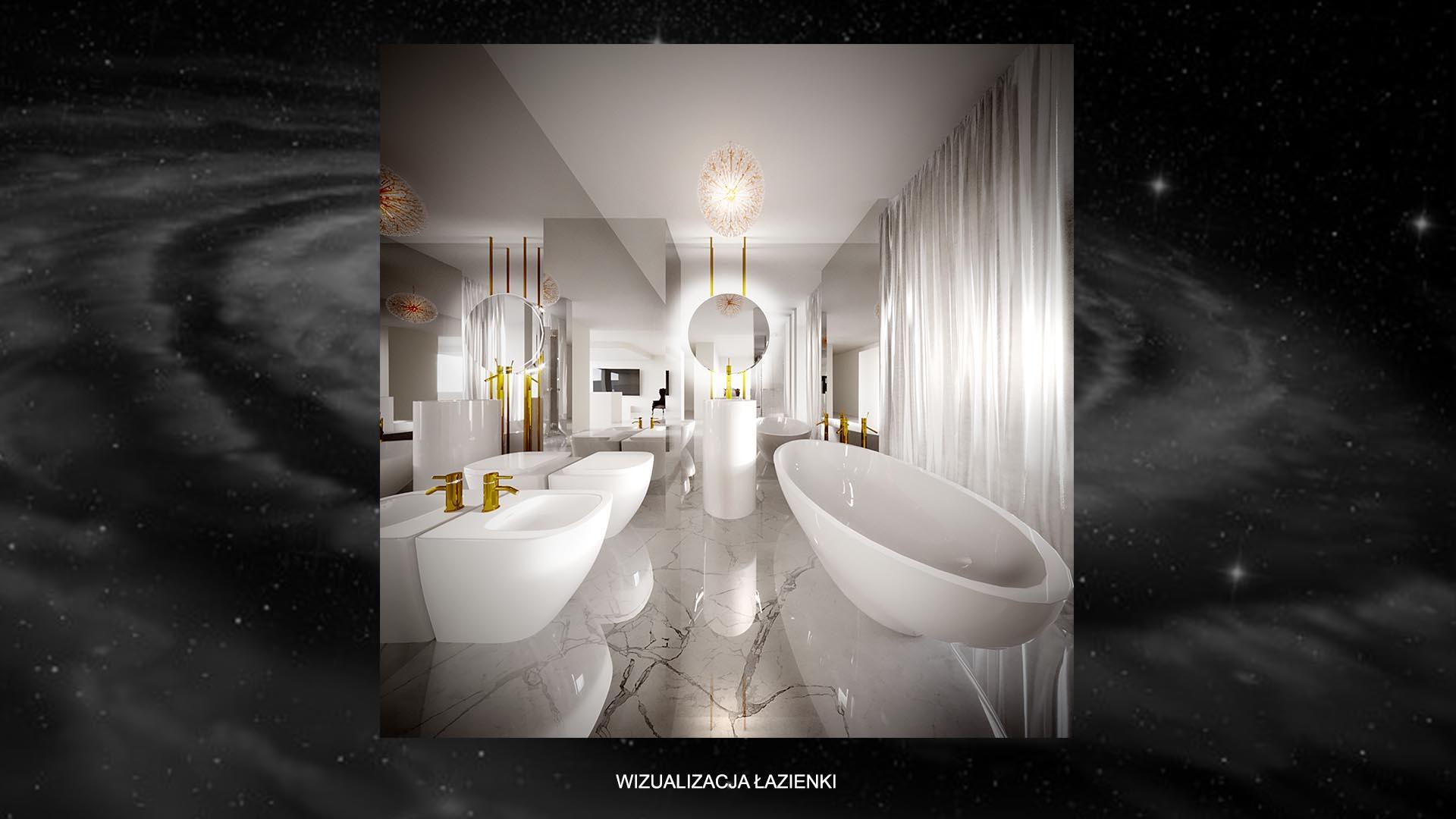 Apartament kometa - wizualizacja łazienki