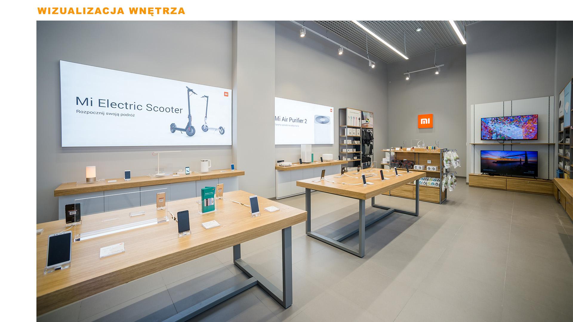 Mi-Store - Kraków - Centrum Handlowe - Serenada - wizualizacja wnętrza