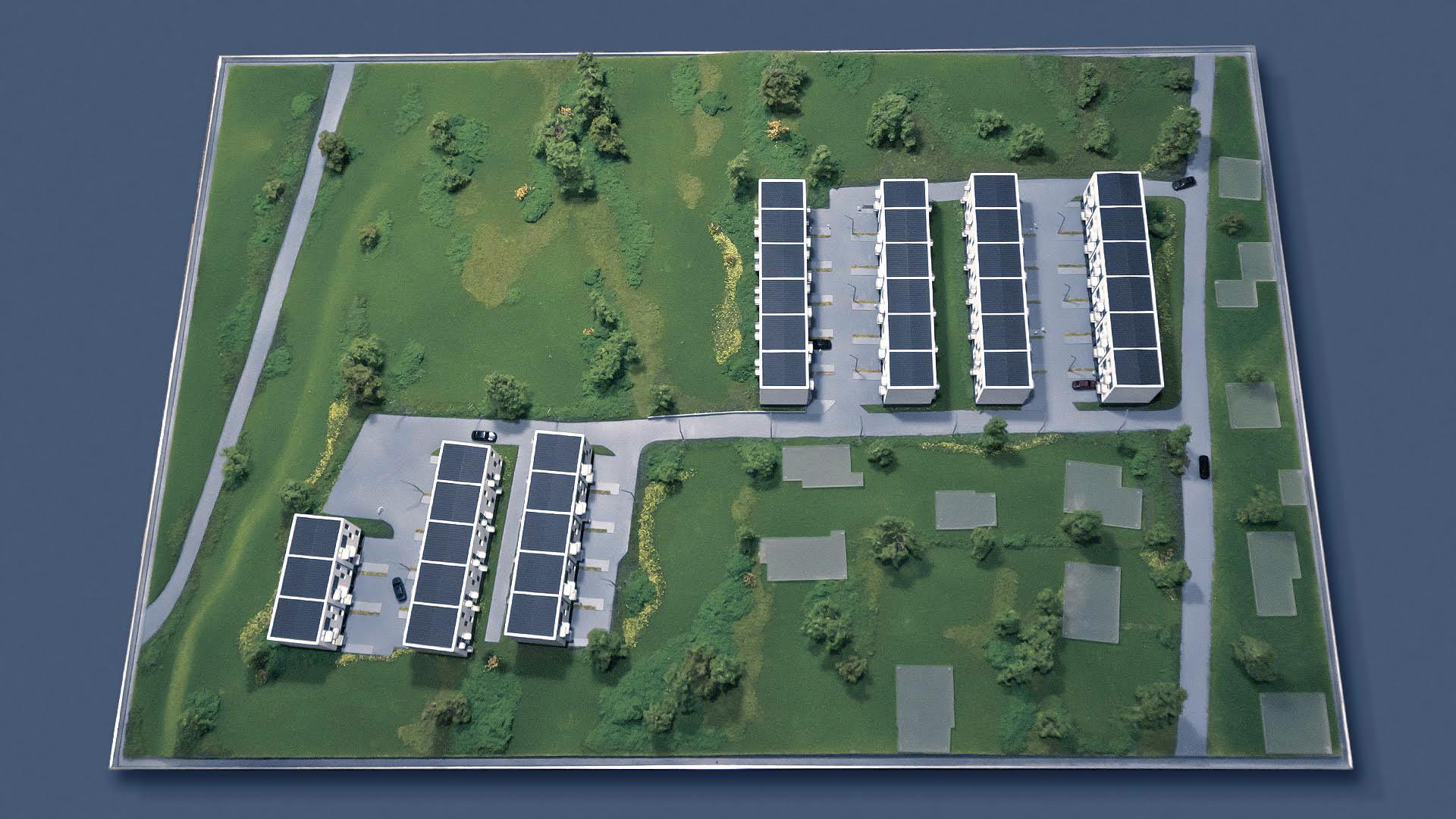 Osiedle Jagielnia - model - widok z góry