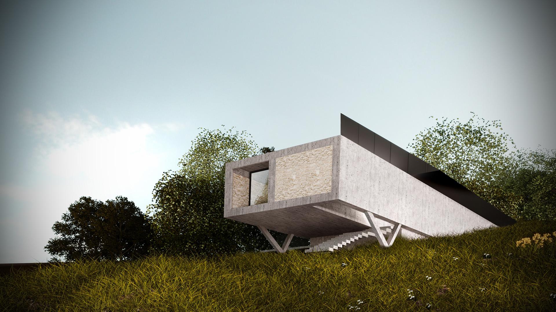 Dom V.W.X.Y.Z - wizualizacja 1