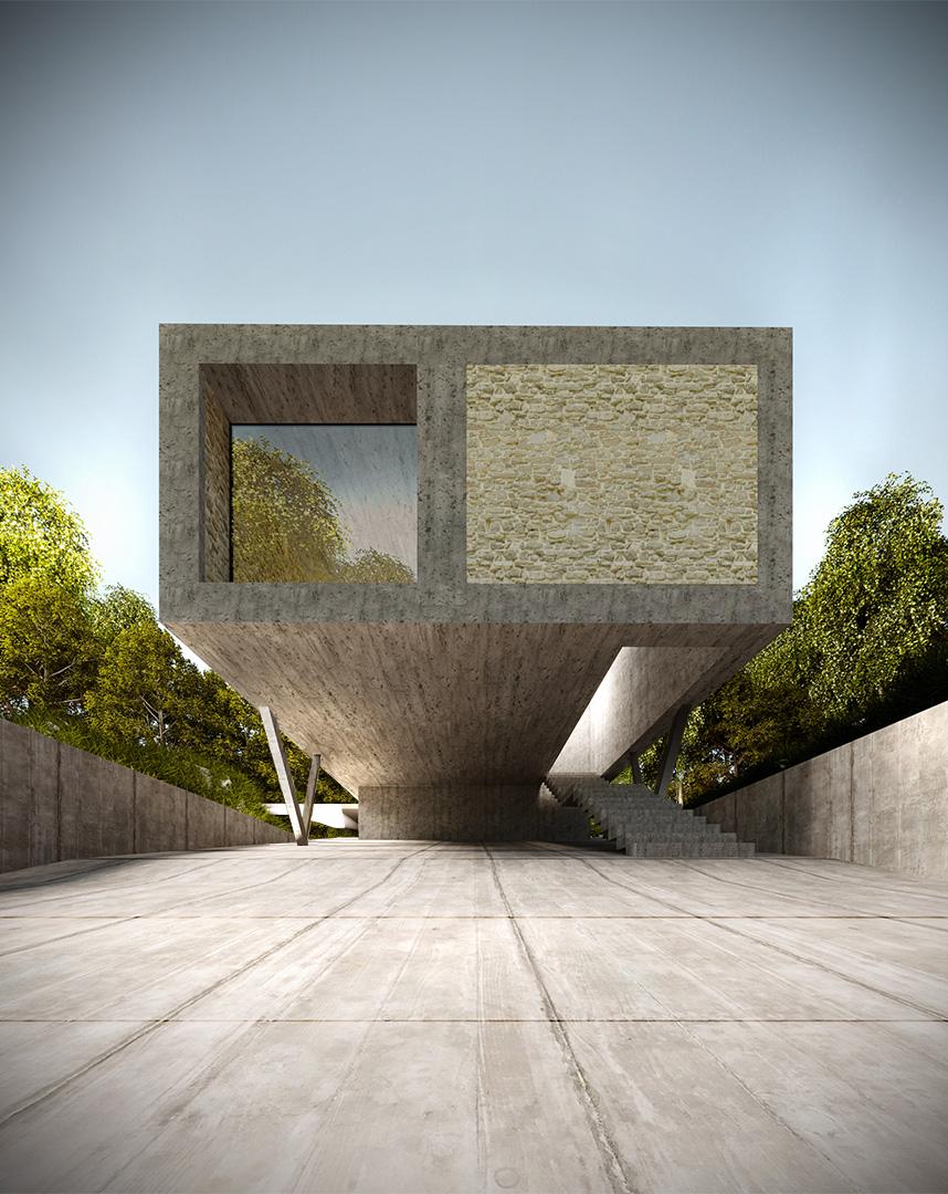 Dom V.W.X.Y.Z - wizualizacja 2