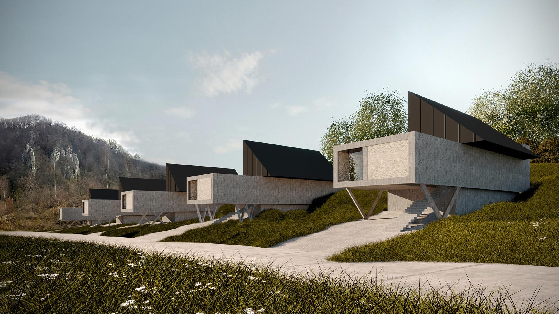Dom V.W.X.Y.Z - wizualizacja 3