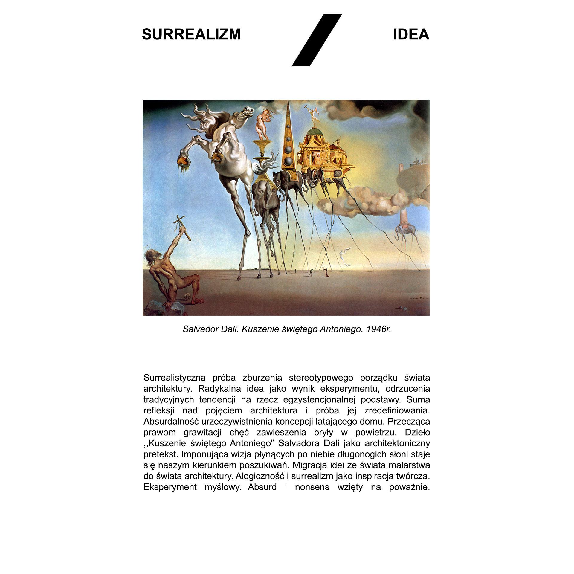 Latająca stodoła - opis surrealizm/idea