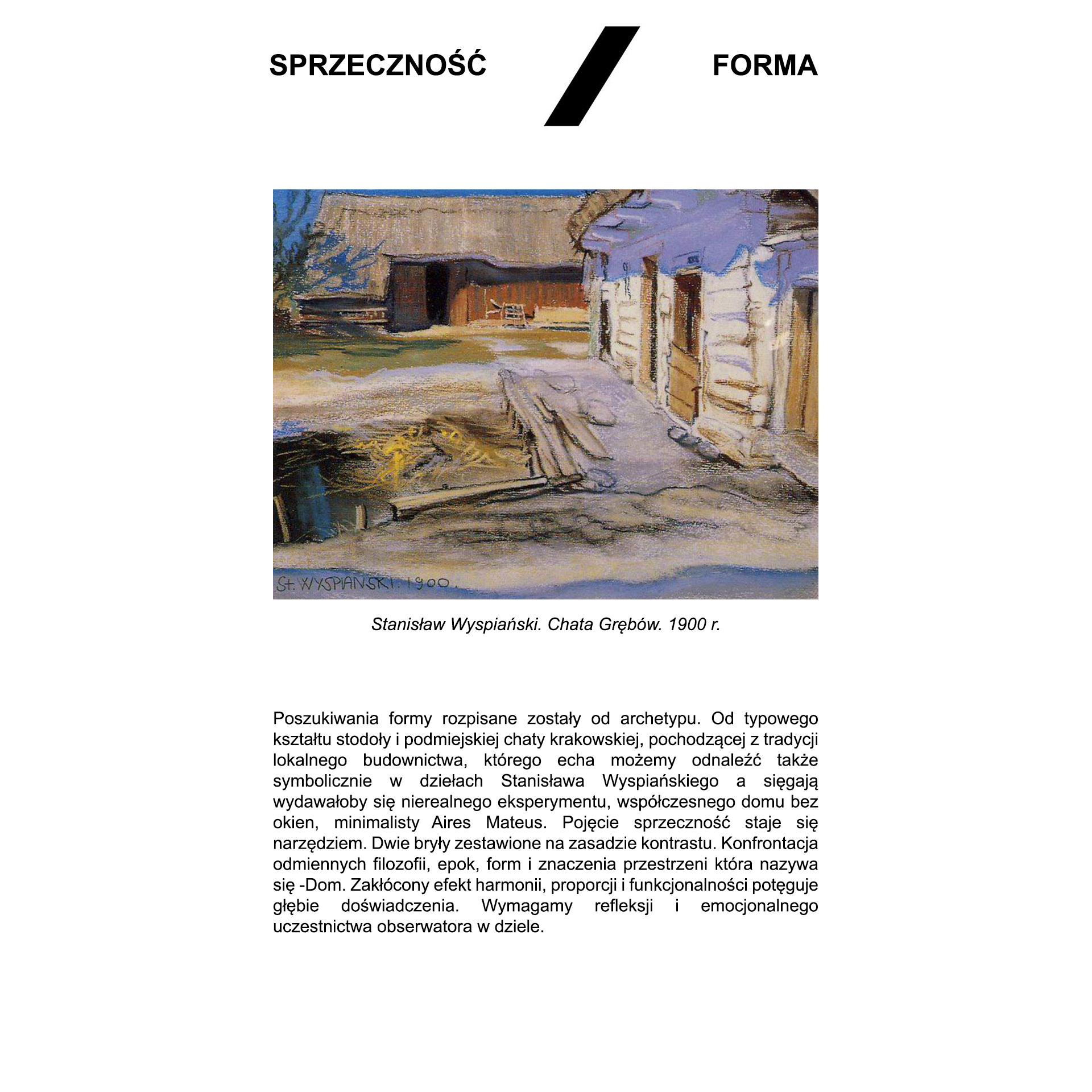 Latająca stodoła - opis sprzeczność/forma