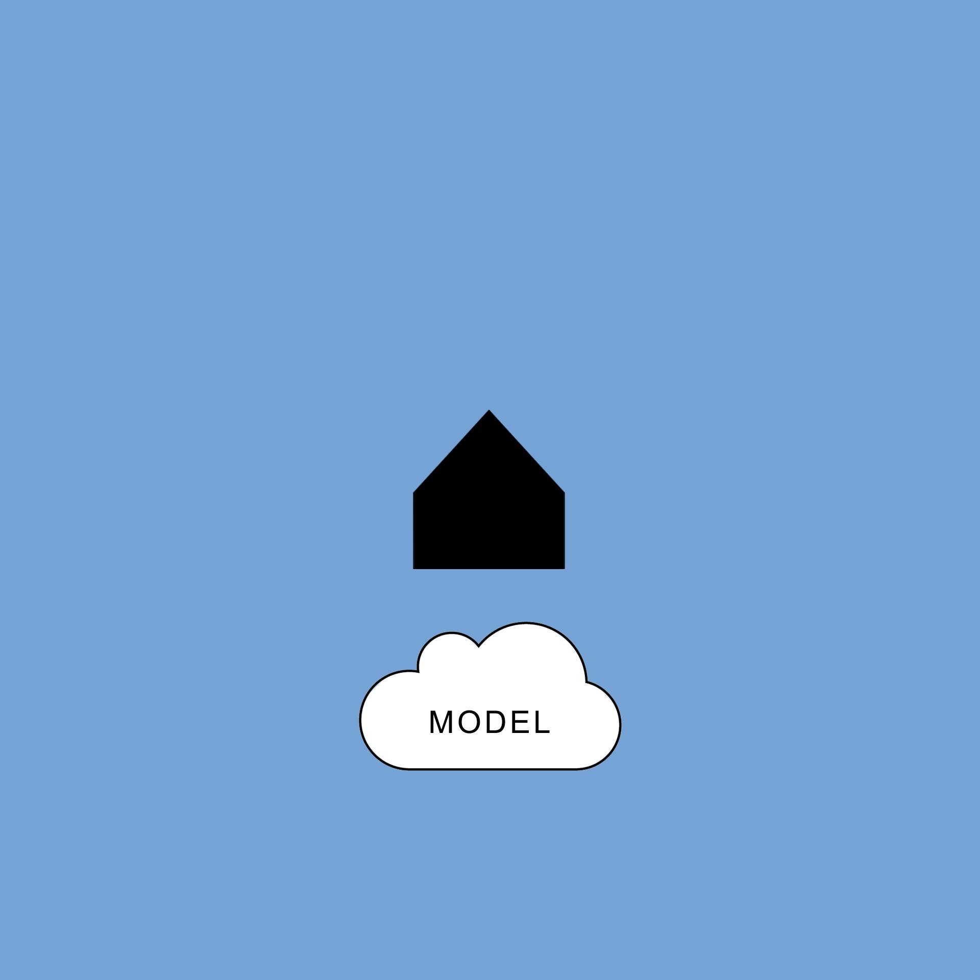 Latająca stodoła - model