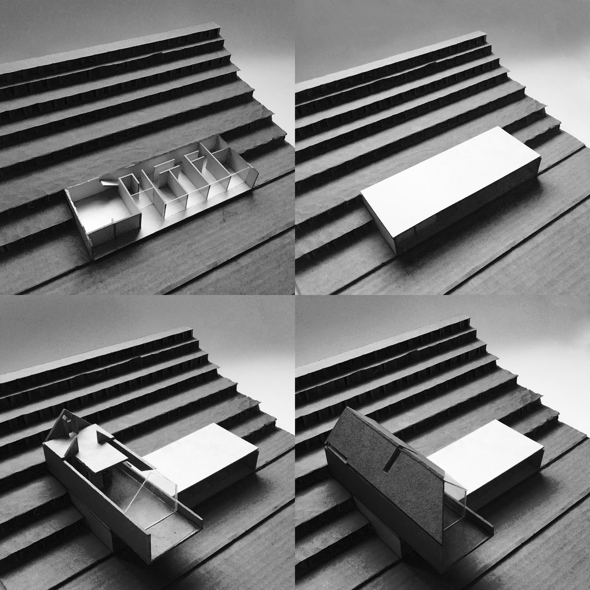 Latająca stodoła - model kolaż