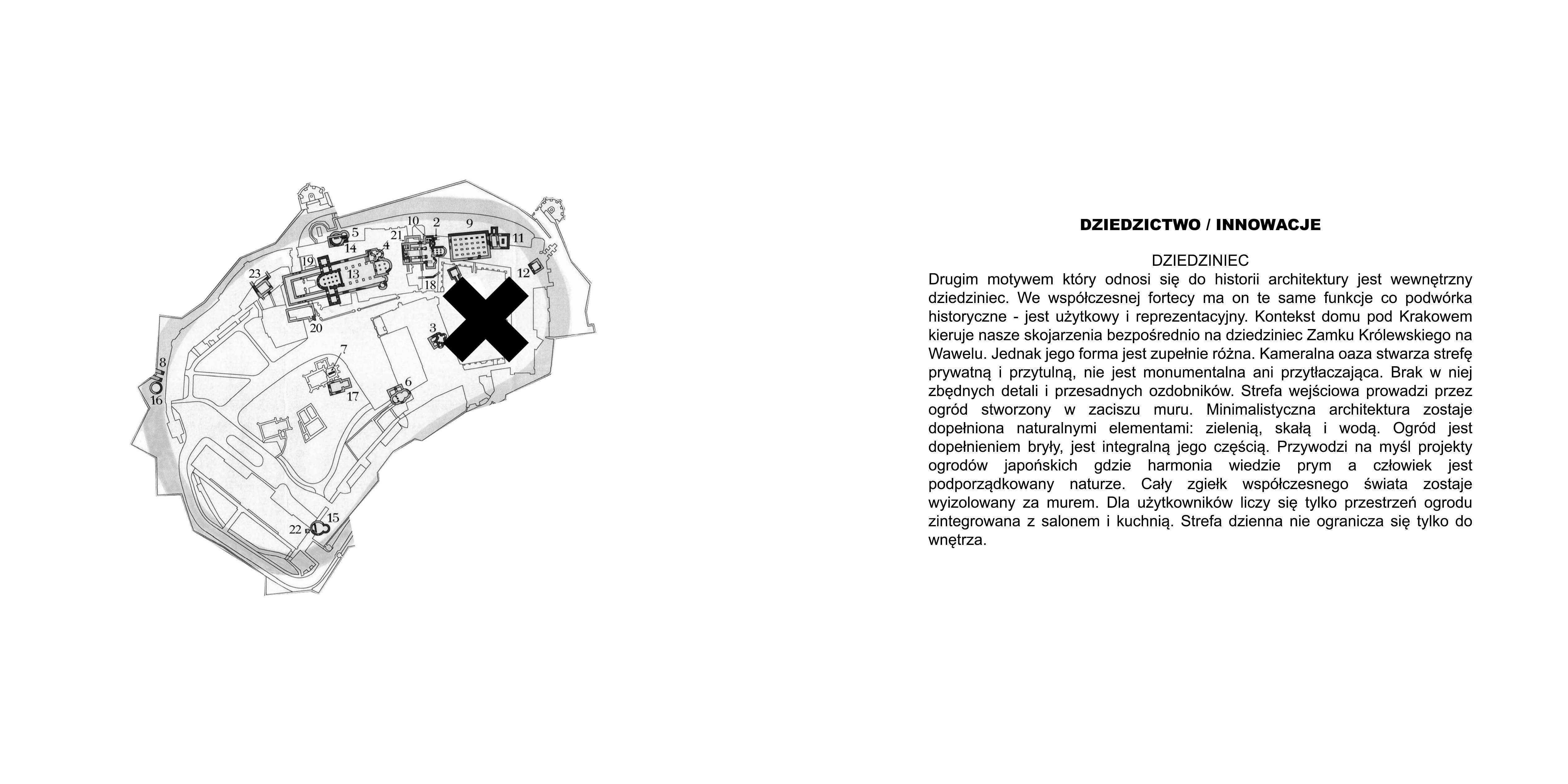 Forteca XS - Dziedzictwo/Innowacje - Dziedziniec