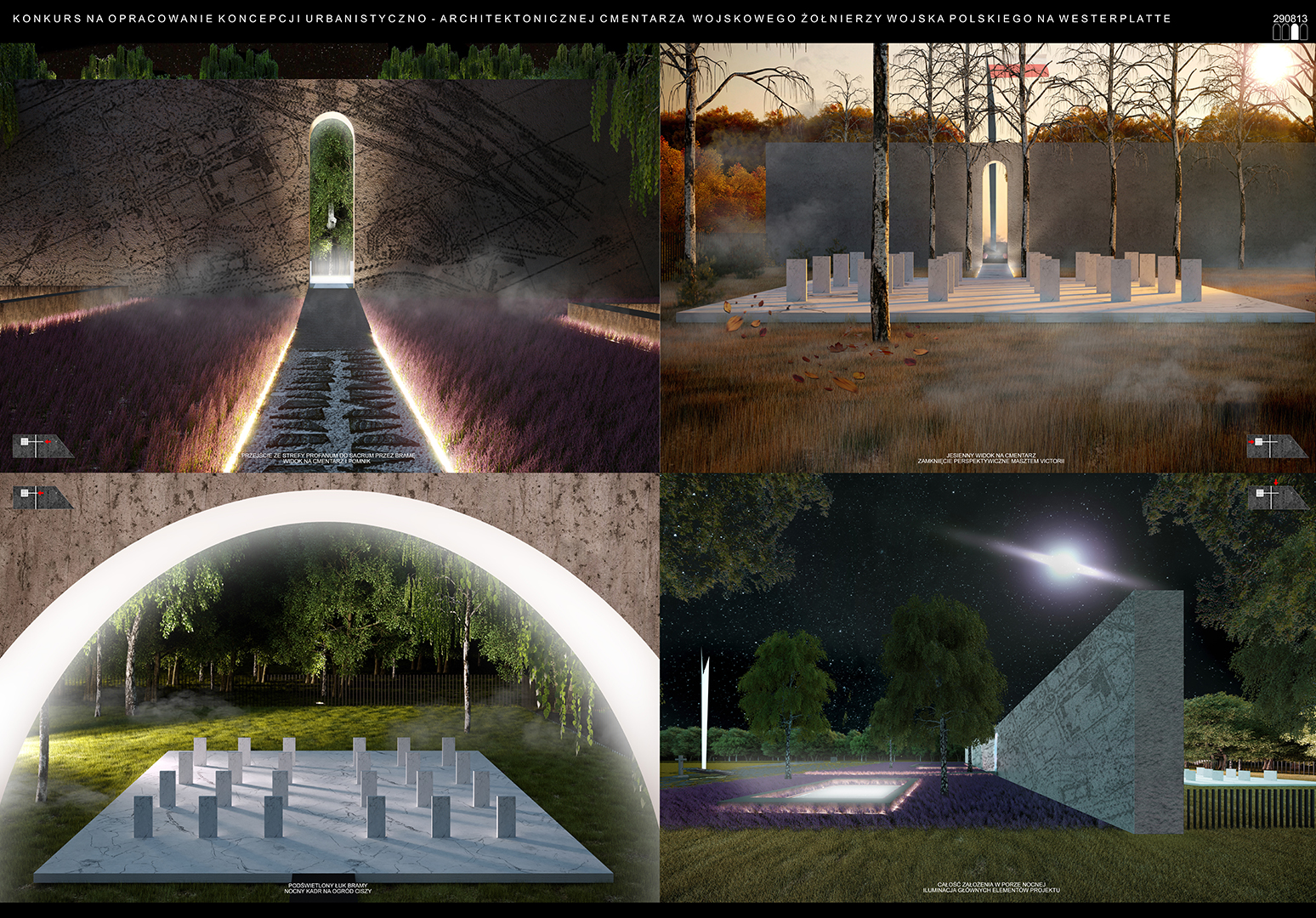 Cmentarz Wojskowy - wizualizacja 1