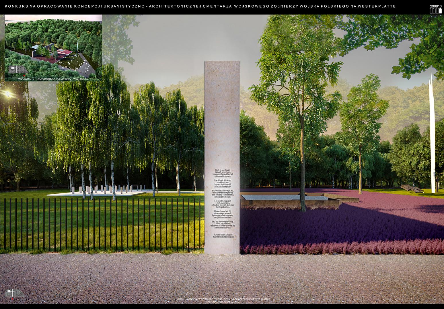 Cmentarz Wojskowy - wizualizacja 2